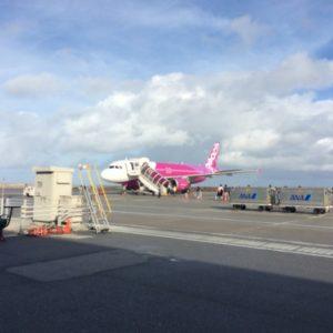 台湾へ向かう時に乗ったPeachの飛行機