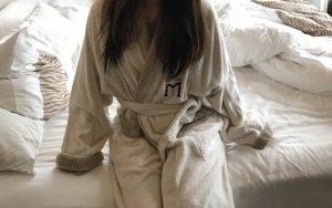 グランドメイフルホテル(美福大飯店)のバスローブ。