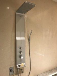 グランドメイフルホテル(美福大飯店)の浴室のシャワー。