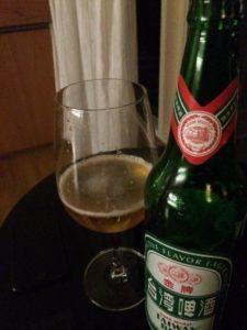 日月潭周辺にあるホテルで晩酌に飲んだ台湾ビール