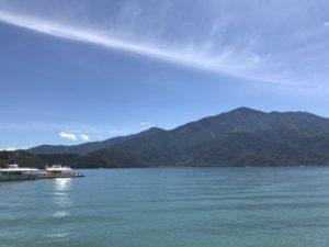 台湾SPAホテル周辺から撮っている、美しい日月潭の写真②