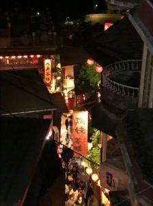 九份で食事をしたレストランから撮った写真