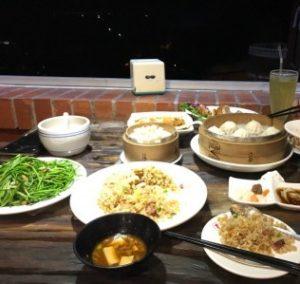 台湾九份にある飲食店の、台湾料理の写真