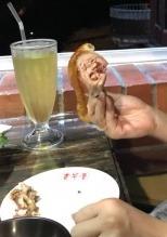 台湾九份の台湾料理屋さんにある豚足の写真