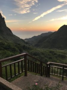 台湾九份のフォルモサ ・アルカディアン・ヴィラホテルから見た景色