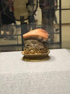 台北故宮博物館に展示されている豚の角煮