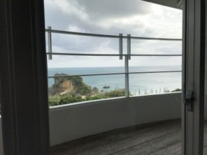 ホテル浜比嘉リゾートのツインルームの窓から撮った景色